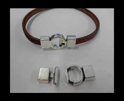 Zamak magnetic clasp MGL-50-6*3MM-Anti. Silver