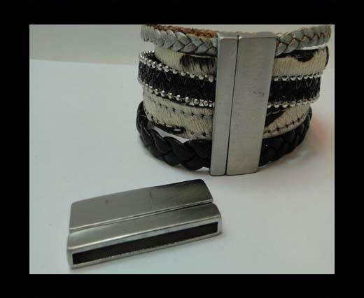 Stainless Steel Magnetic Clasp,Matt Steel,MGST-229-40*3mm