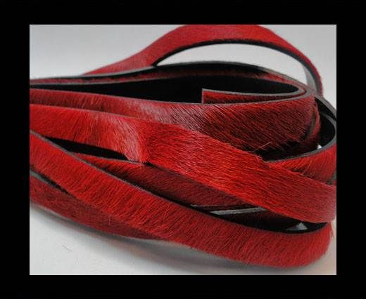 Pony Hair Leather- 10mm-Red
