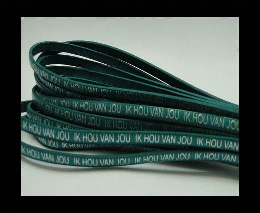 Real Flat Leather-5MM-IK HOU VAN JOU-silver-Turquoise