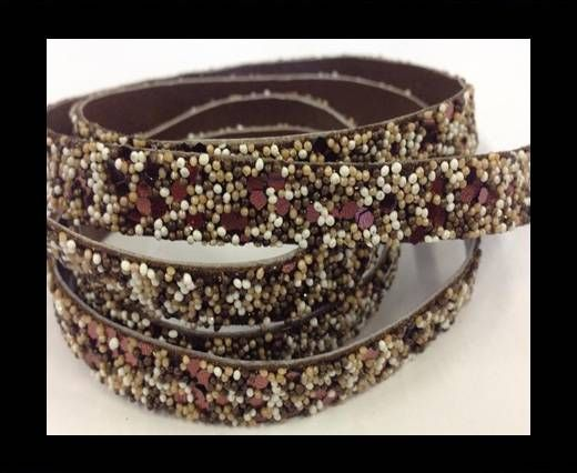 Real Nappa Leather - SE-FNG-04-Glitter Style -10mm
