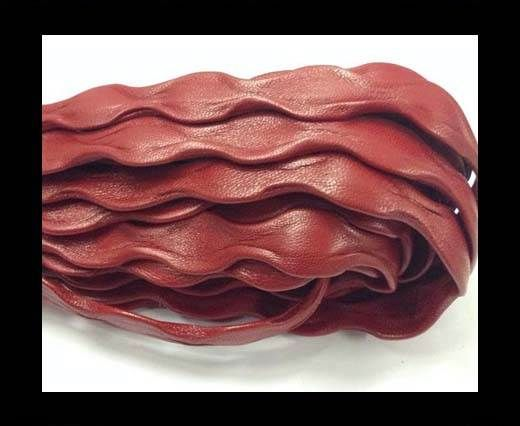 Real Nappa Leather -12mm-Wave Style-Red