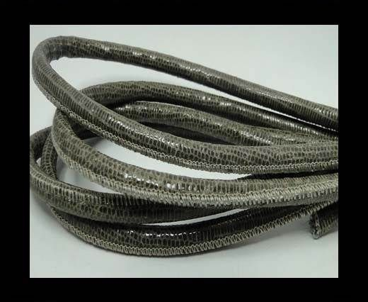 Real Round Nappa Leather cords - Lizard Prints -Taupe Lizard- 6m