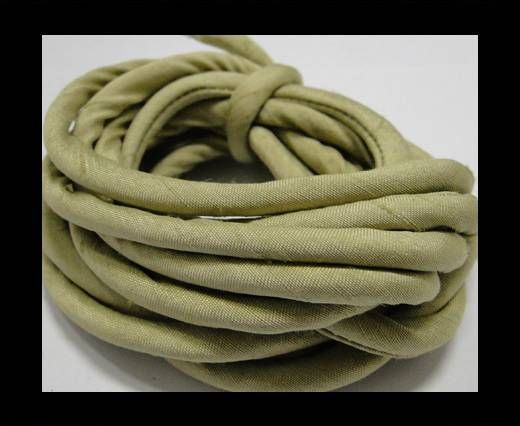 Real silk cords with inserts - 4 mm - Olive