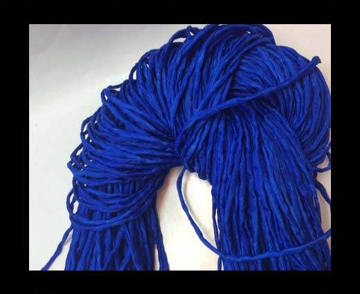 Real silk cords with inserts - 4 mm - Deep Blue