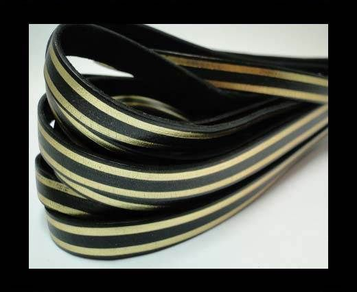 RFL-10MM with stripes on both sides-Black with golden