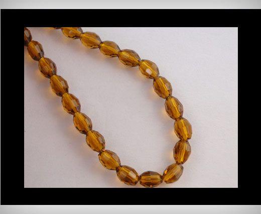 Rice Glass Beads -4mm*6mm-Mokka