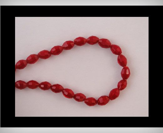 Rice Glass Beads -4mm*6mm-Wine Red