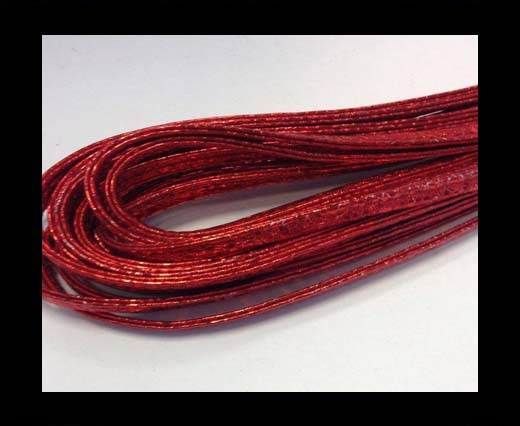 RNL- 5mm-Stitched-Snake Style - Metallic Red