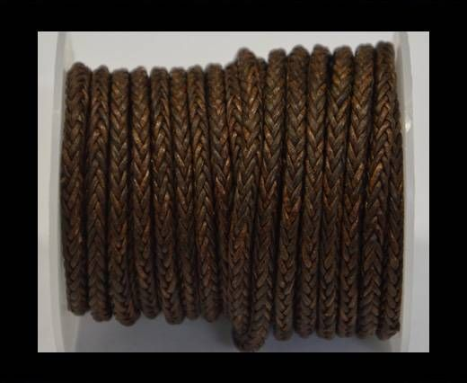Round Braided Bolo Cords - 4mm - Vintage Brown