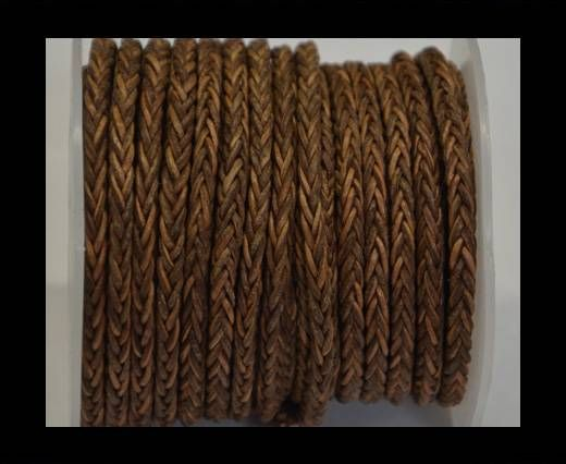 Round Braided Bolo Cords - 4mm - Vintage Tan