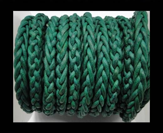 Round Braided Bolo cords - 6mm-SE Green