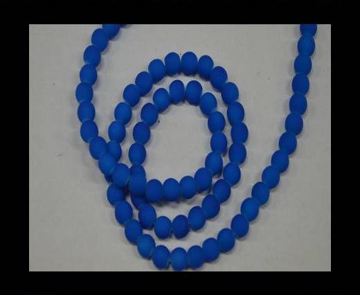 Round Glass beads 8mm - Neon Blue