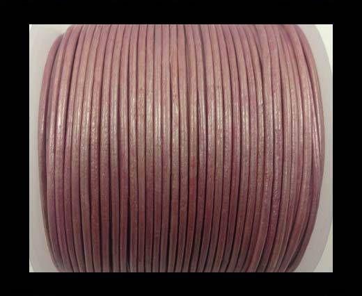 Cordone in cuoio tubolare –metallico Rosa- 1.5mm