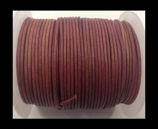 Cordone in cuoio tubolare –Vintage Rosa- 1.5mm