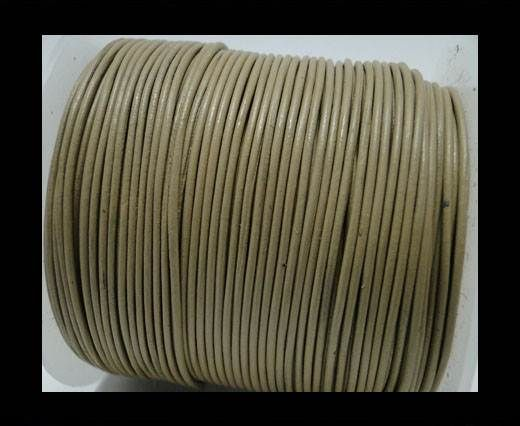 Round Leather Cord -1mm - Camel
