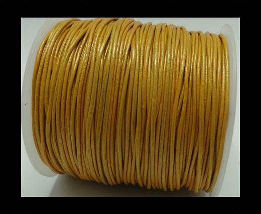 Round Leather Cord -1mm - Gold
