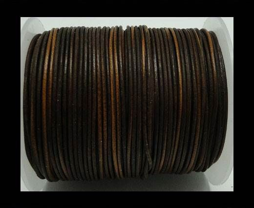 Round Leather Cord -1mm- Vintage Ten