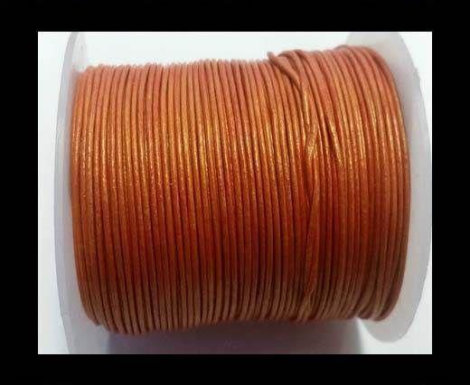 Round Leather Cord -1mm- SE M.Orange