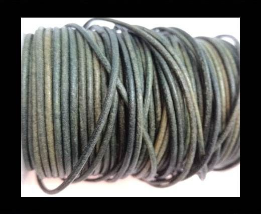 Round Leather Cord-1,5mm-vintage tourmaline