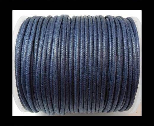 Round Wax Cotton Cords - 2mm - Navy Blue