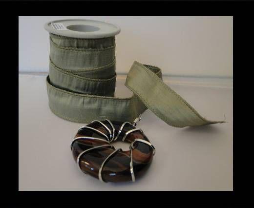 SC-Silk-Ribbon-Shiny Khaki