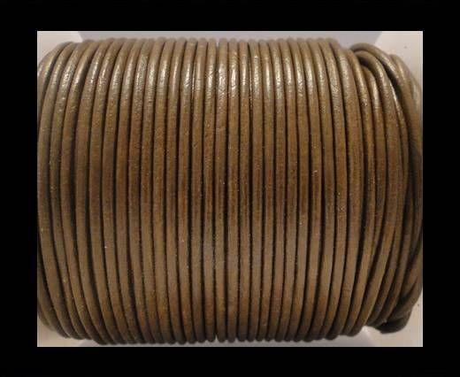 Round Leather Cord SE/R/Light Tan - 2mm