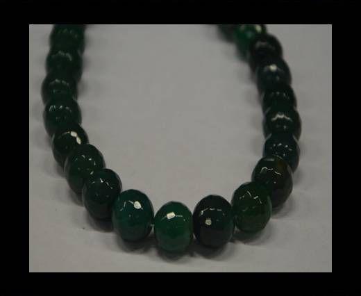 Semi Precious Stones item 3-14mm-Dark Green