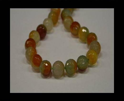 Semi Precious Stones item 3-14mm-Multi Orange