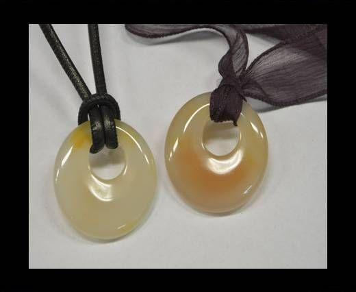 Semi Precious Stones item 18-white cream