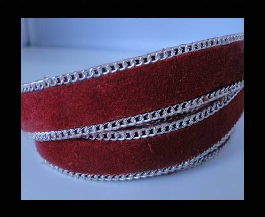 Suede Leather - Red