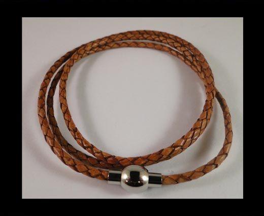 Three wrap leather bracelets SE-PB-10-3MM