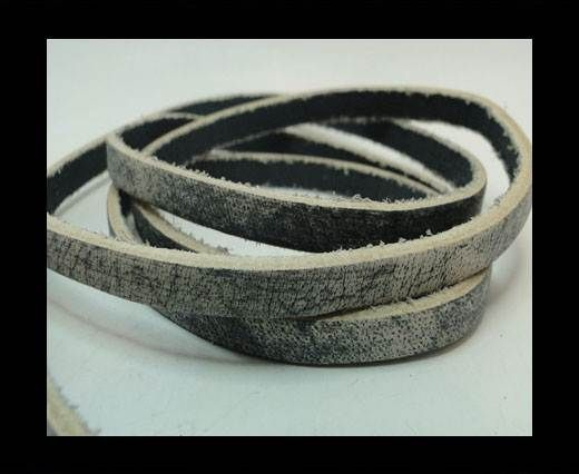 Vintage Style Flat Leather - 5mm-Grey