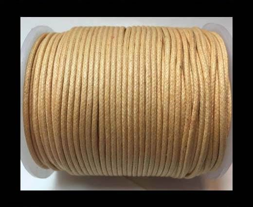 Wax Cotton Cords - 1mm - Natural