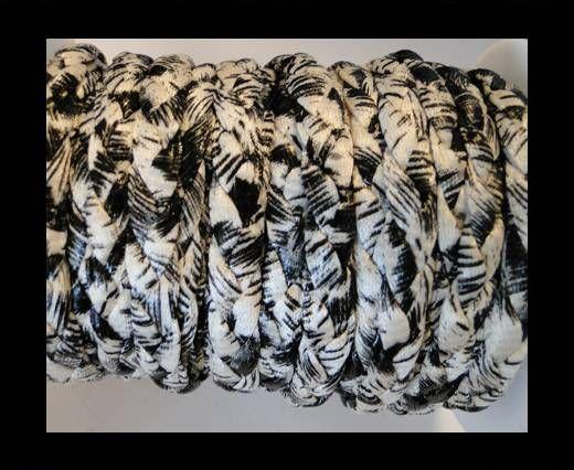 Cordón trenzado fancy -Blanco-10mm