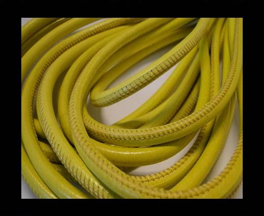 Cuero de nappa de alta calidad -Amarillo Brillante-6mm