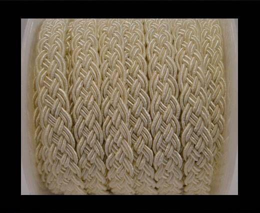 Cordón de Algodón Trenzado- Beige
