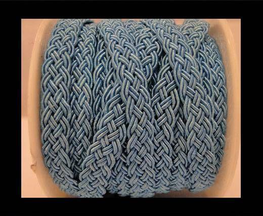 Cordón de Algodón Trenzado- Turquesa