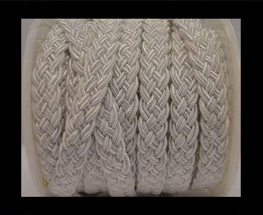 Cordón de Algodón Trenzado- Blanco