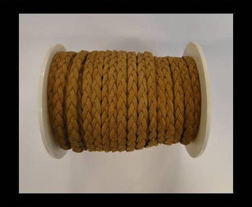 Cordón de Ante Trenzado-Marrón-5mm