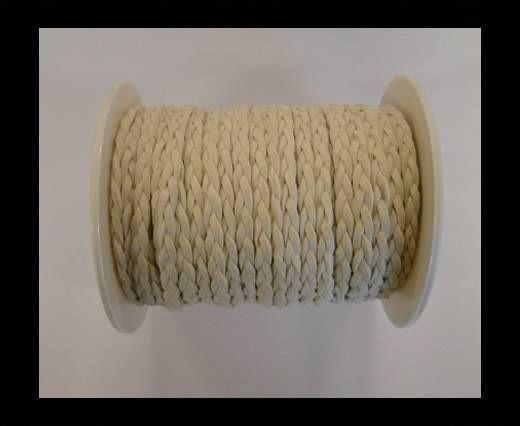 Cordón de Ante Trenzado-Blanco-5mm