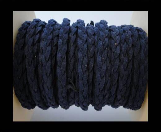 Cordón de Ante Trenzado-Azul-5mm