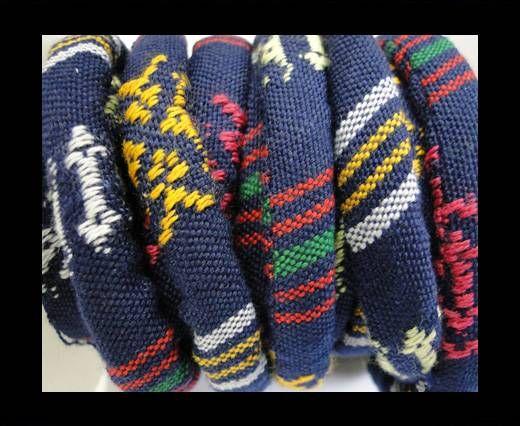 Bulgy Fabric Cord-10mm-blue