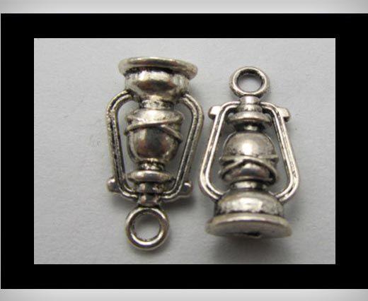 Zamac Silver Plated Beads CA-3162