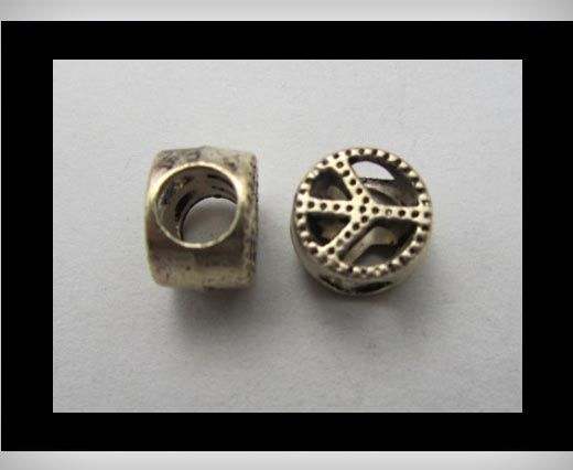 Zamac Silver Plated Beads CA-3249