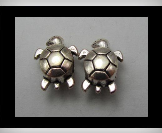 Zamac Silver Plated Beads CA-3256