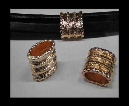 CA-4693-Rose gold-Zamac parts for leather