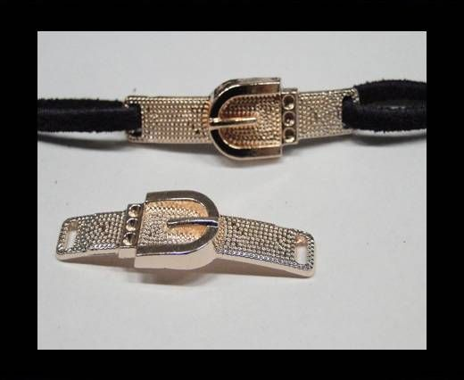 CA-4727-Rose gold-Zamac parts for leather