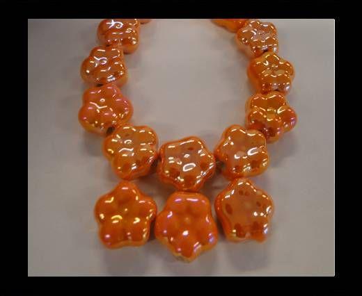 CB -Ceramic Flower - Orange AB