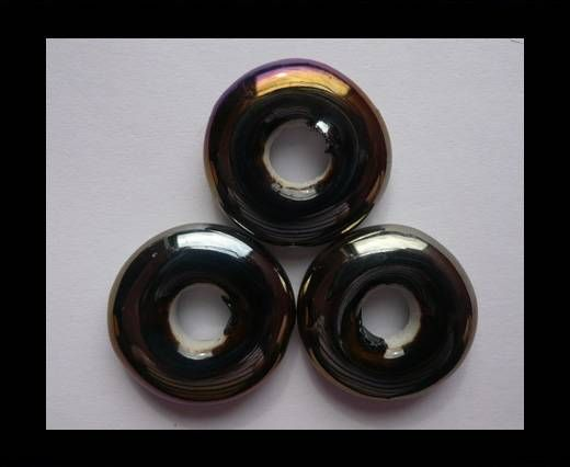 CB-Ceramic Flower-Small Donuts-Black AB